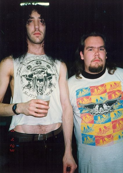 Danny with Dan Lilker (Brutal Truth), April 23, 1993