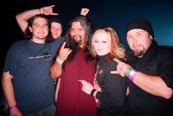 Dave with Sharee, Gene Hoglan of SYL (and others)