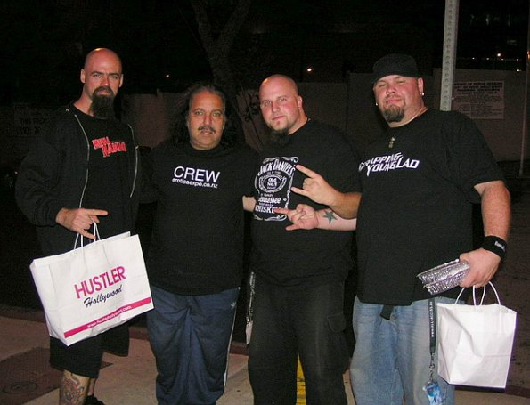 Rob, Ron Jeremy, Tim and Dave in LA