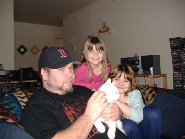 Dave with niece Emily and daughter Acyan, December 29, 2005