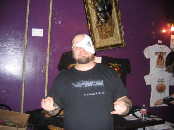 Dave selling merch, May 2006